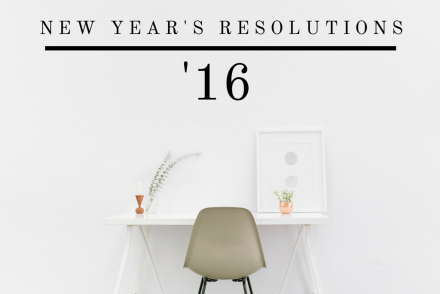 New Years Resolutions 2016